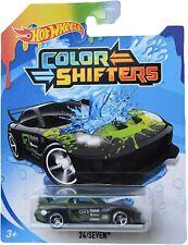 Hot Wheels Color Shifters 24/SEVEN 24/7 HTF Dark Gray to Neon Green