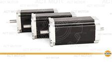ACT Motor GmbH 3PCS Nema23 Stepper Motor 23HS2430B 3.0A 112mm 280N.cm dual shaft