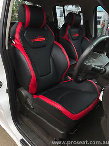 NISSAN NAVARA PATROL GTS SEAT CONVERSION GENUINE ITALIAN LEATHER D40 D22 D23 GU