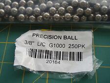 "250 Steel Precision Balls 3/8"" L/C G1000 20164 !AA4!"