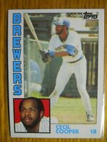 1984 TOPPS CARD # 420 CECIL COOPER
