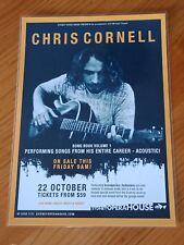 CHRIS CORNELL - 2011 Australia Tour - SYDNEY - Laminated Promo Poster
