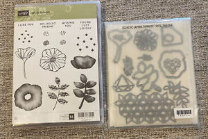 Stampin Up OH SO ECLECTIC RETIRED STAMPS & ECLECTIC LAYERS DIES BEAUTIFUL SET