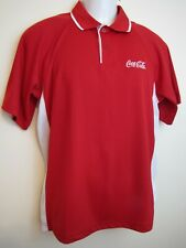 Charles River Sports Red Coca-Cola Shirt Embroidered Logo On Front Size Med.
