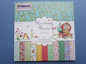 Riverbank Revels Craft Paper Pack 2 Sheets of 12 Designs, 24 Sheets Total