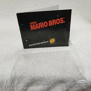 "⭐1985 Super Mario Bros. Nintendo NES Instruction Manual NO ""TM"" Early Print!⭐👀"