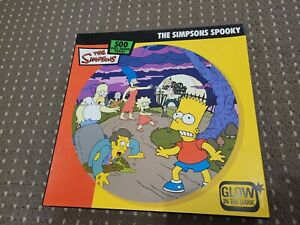 The Simpsons 'Spooky Halloween jigsaw puzzle circular Glow Dark *RARE* 500 piece