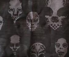 Harry Potter Halloween Skull Scarf Sheer Black Death Eaters Spooky