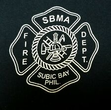 SUBIC BAY Philippines FIRE DEPARTMENT T-Shirt Mens Medium M - old US NAVY Base
