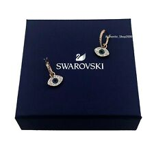NEW SWAROVSKI Brand Rose Gold Multi Duo Evil Eye Hoop Pierced Earrings 5425857