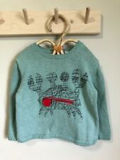 Zara knit sweater baby boy mint green with zipper pocket 12-18 months