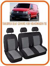 Completamente su misura furgone Coprisedili Per VW Volkswagen Transporter T6 2+1