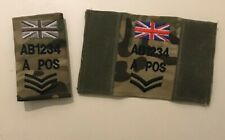 More details for virtus mtp vest badge, zap blood rank trf union jack, army military personalised
