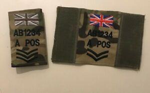 Virtus MTP Vest Badge, Zap Blood Rank TRF Union Jack, Army Military Personalised