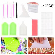 40 Pcs Diamond Painting Tools 5d Embroidery Kit Art Accessories Pen Storage UK
