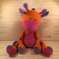 "BUBBLES THE GIRAFFE ""Orange"" Gorgeous Kids Plush Soft Toy Animal Stuffed Friend"