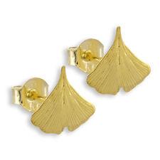Ginkgoblatt Ohrstecker aus 333 echt Gold