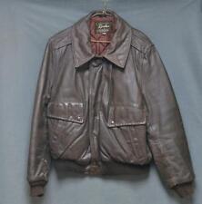 New listing Vintage Grais Brown Flight Bomber Jacket Usa Made Quilt Lined Men's Size 44
