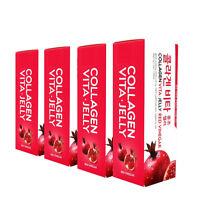 4 Pack Collagen Vita Jelly Boosts Skin Elasticity & Revitalization (Pomegranate)