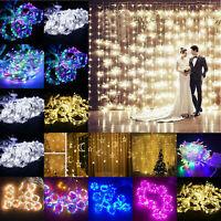 3m 300LED Curtain Light String Copper Wire Fairy Wedding Party Garden Xmas Decor