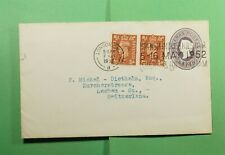 Dr Who 1962 Gb London Slogan Cancel Uprated Stationery To Switzerland f52950