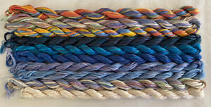 #4 Blues Multi Colors 10 Caron Waterlilies 12 Ply Silk Thread Without Tags