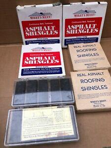 Dollhouse Asphalt Shingle Lot of 5 Plus Boxes