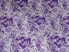 "LIBERTY ART FABRICS ""PAPER GARDEN"" 78x136cm tana lawn cotton PURPLE"
