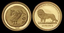 Congo (Rep. of): 2006 10 Francs Owl of Athens 0.5g 999 Gold Coin with Cert