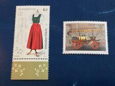 Austria 2013 Dress, Fire Truck Mnh Scott#2457-58 Nice Stamps Fv 1.5€