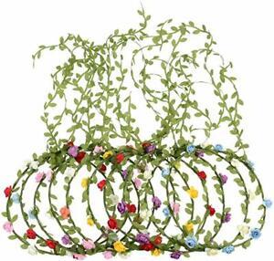 Boho Flower Headband Rose Garland Crown Wreath ~ Festivals, Weddings, Parties ~