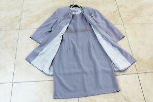 GERARD lavender grey lace trim dress & coat Suit UK 20 Mother of Bride guest