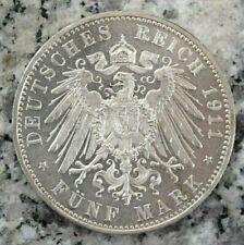 5 Mark 1911 D München Bayern Deutsches Kaiserreich Luitpold Prinzregent in PP