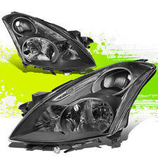 FOR 10-12 NISSAN ALTIMA PAIR FRONT BUMPER DRIVING HEADLIGHT/LAMPS BLACK/CLEAR
