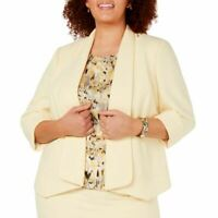KASPER NEW Women's Plus Size Open-front Lined Blazer Jacket Top 20W TEDO