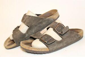 Birkenstock Germany Made Mens 10 43 Arizona Brown Suede Sandals Slides Shoes