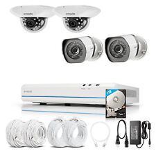 Zmodo 8CH 1080p HDMI NVR w/ 4 720p IR-cut CCTV Camera Home Security System 1TB
