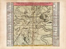 Old Vintage Decorative Stars map Orion Hydra Taurus Doppelmayr ca. 1742