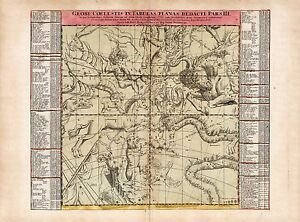 Old Vintage Decorative Stars map Orion Hydra Taurus Doppelmayr ca. 1742