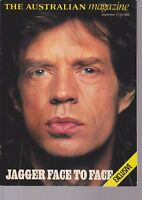 The Australian Magazine.  Mick Jagger (Stones). Magazine Sept 17/18 1988. Ex.