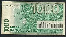 LIBAN - 1000 LIVRES Pick n° 90. de 2011. en TTB   K 003 637579