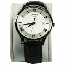 Tissot T-Classic Men's Tradition Brown Leather Silver Dial