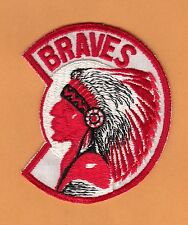 1960's MILWAUKEE BRAVES LARGE 4 inch INDIAN OLD LOGO JERSEY PATCH Unused Stock
