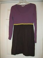 BODEN sweater dress - 6, color block, purple/black/gold, long sleeves, gorgeous!