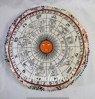 "Indian Mandala Floor Pillows 32"" Round Meditation Cushion Cover Ottoman Pouf"