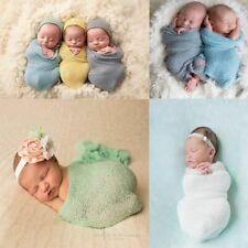 Costume Photography Props Newborn Photo Cloths Baby Blanket Stretch Knit Wrap