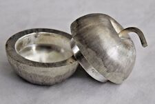 Vintage Mexico Sterling Silver Apple Pill Box Case
