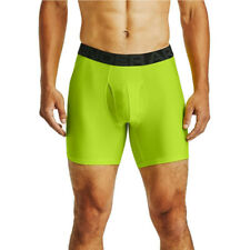 Under Armour Mens Tech 6in Boxerjock Green Sports Running Gym Breathable