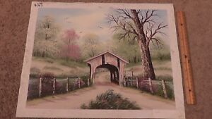Artistic Impressions Certified Lithograph Print On Canvas Covered Bridge America