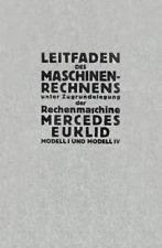Buch »Leitfaden des Maschinenrechnens Mercedes Euklid«, Gebrauchsanleitung